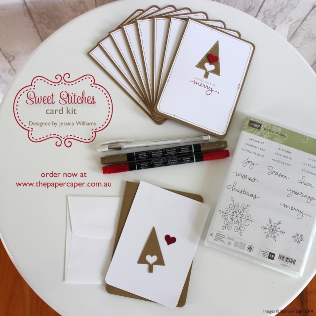 Sweet Stitches card kit. Designed by Jessica Williams @ www.thepapercaper.com.au