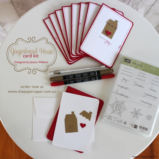 Gingerbread House card kits. Available at www.thepapercaper.com.au