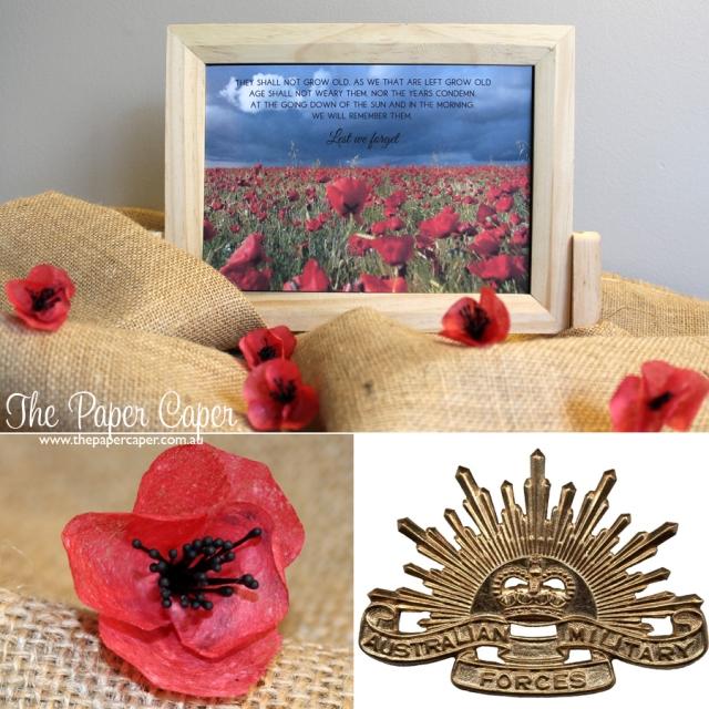ANZAC tribute. Details @ www.thepapercaper.com.au