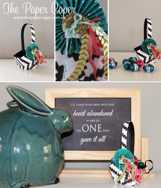 Easter Basket. Details @ www.thepapercaper.com.au