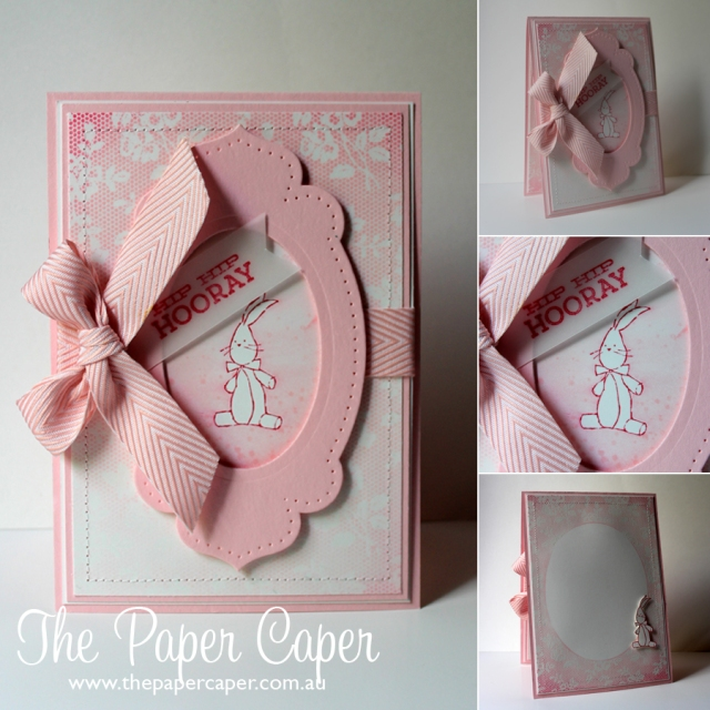 I Love Lace... and perfect pink bundles. Details @ www.thepapercaper.com.au
