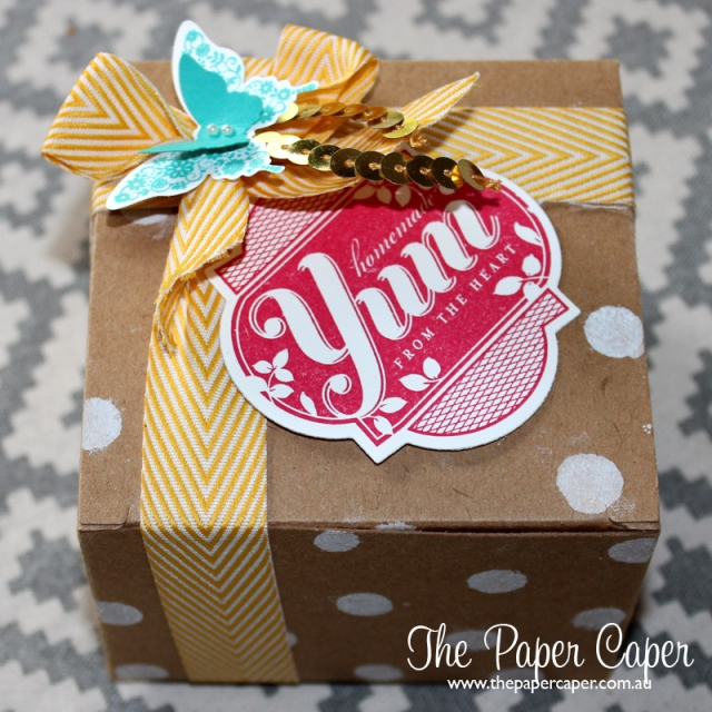 Homemade Yum in a Box. Details @ www.thepapercaper.com.au