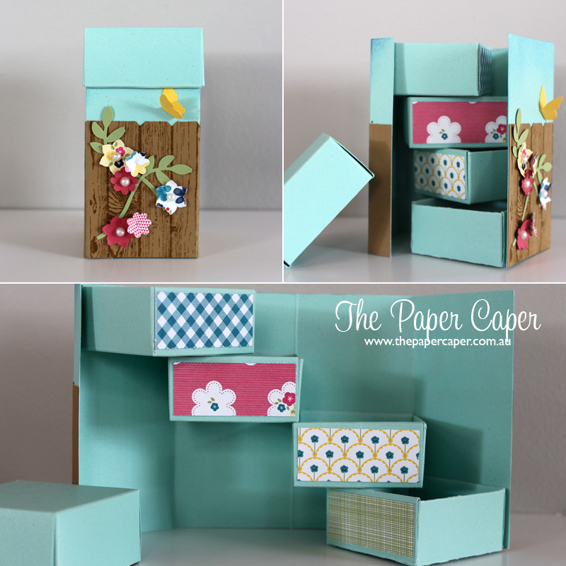 Stampin' Up! Hardwood fence stepper box. Details @ www.thepapercaper.com.au