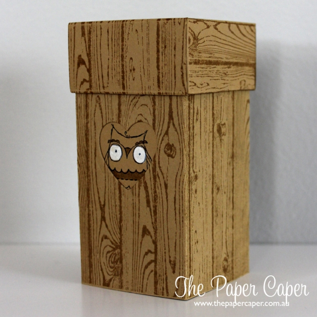 Stampin' Up! Hardwood meets Baby You've Grown stepper box. Details @ www.thepapercaper.com.au