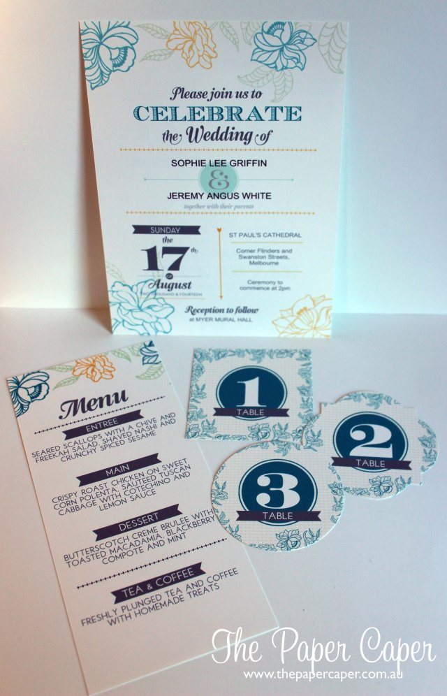 Always & Forever digital wedding invitation on My Digital Studio. Details @ www.thepapercaper.com.au