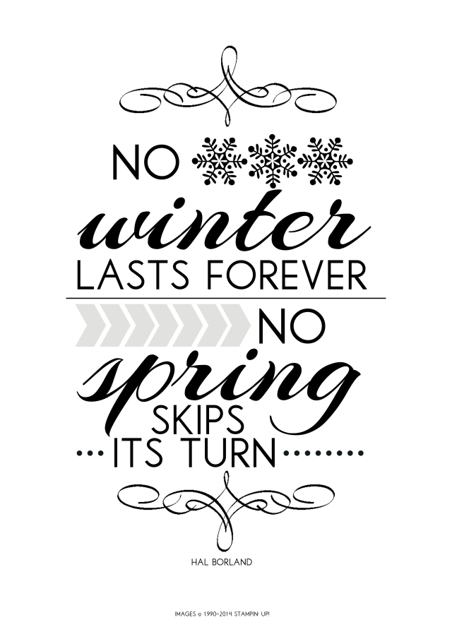 FREE winter quote printable @ www.thepapercaper.com.au