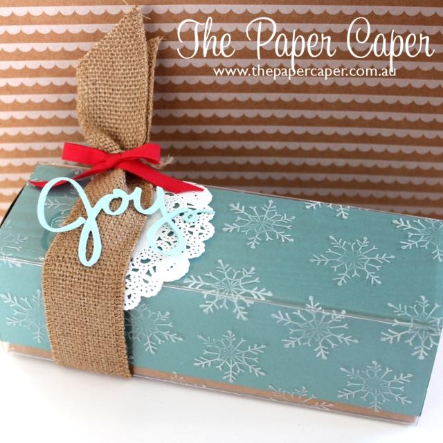 A joyous gift box! Details  www.thepapercaper.com.au