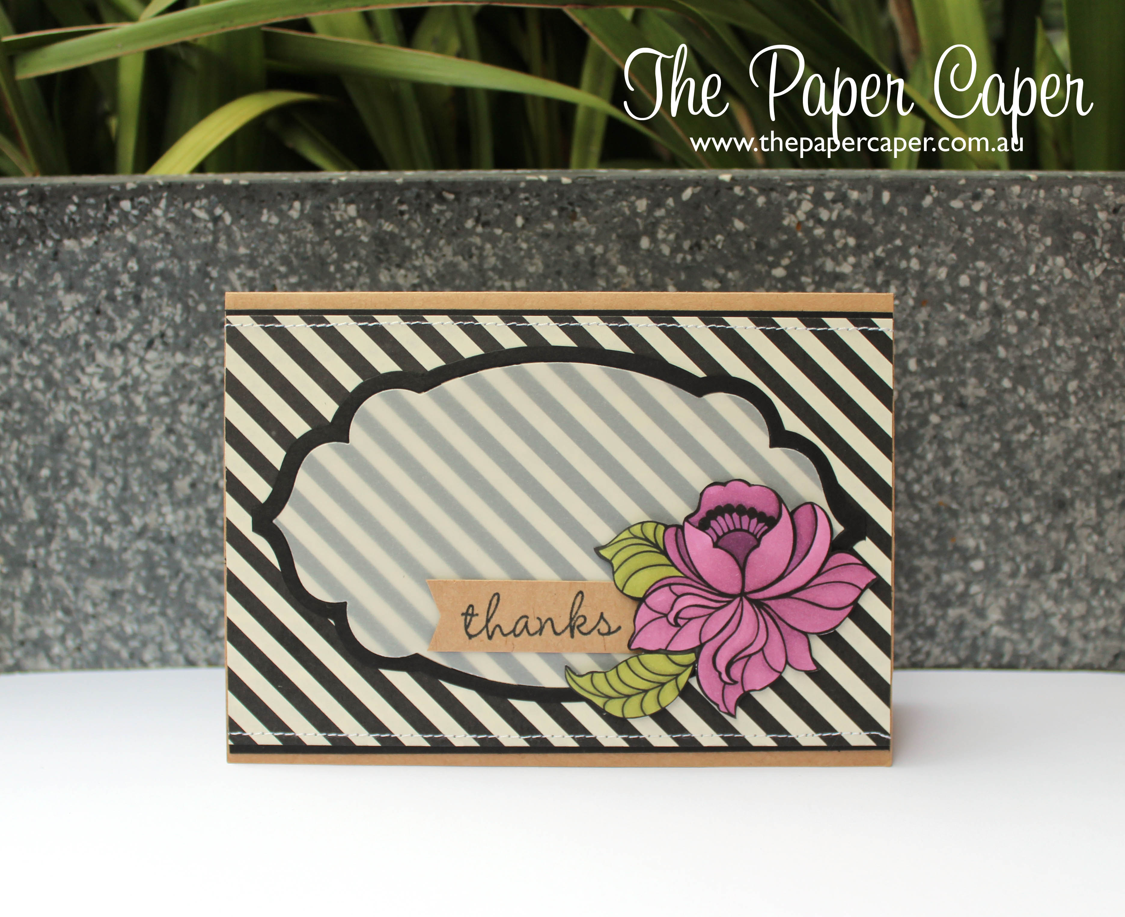 Blendabilities & Blooms for CASEing the Catty Challenges. Details @ www.thepapercaper.com.au