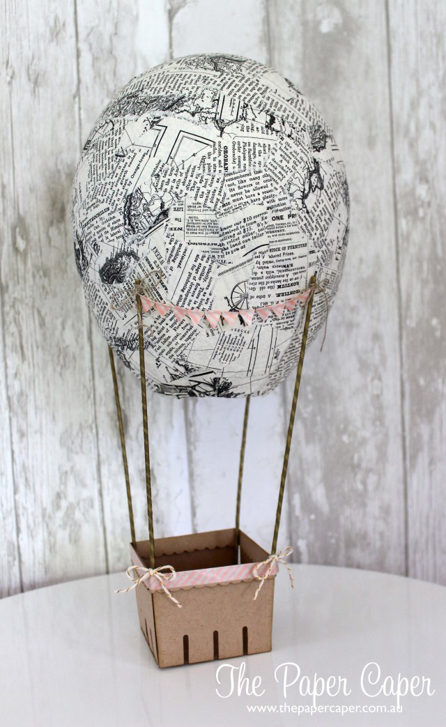 Hot Air Balloon featuring Typeset DSP and Berry Basket die for CASEing the Catty Challenges. Details @ www.thepapercaper.com.au