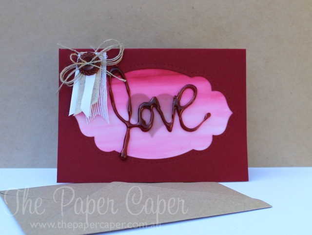 Love and a Hot Glue Gun @ www.thepapercaper.com.au