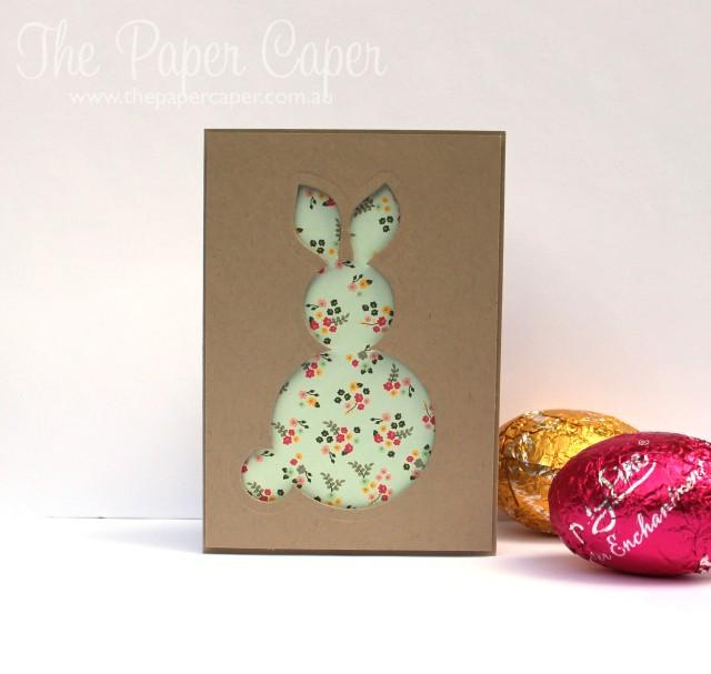 Stampin' Up! framelit Easter bunnies. Details @ www.thepapercaper.com.au