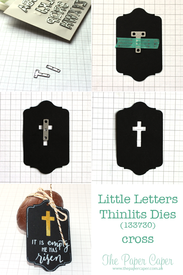 Stampin' Up! Little Letter thinlits cross tutorial. Details @ www.thepapercaper.com.au