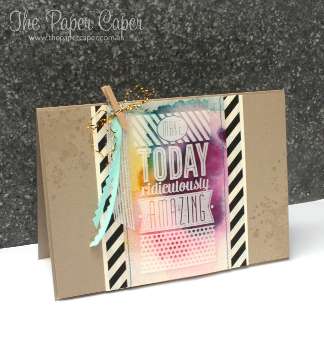 Amazing colourful Birthday swap. Details @ www.thepapercaper.com.au. Stampin' Up! supplies: Amazing Birthday, Gorgeous Grunge, White StazOn, Crushed Curry, Island Indigo, Blackberry Bliss, Melon Mambo inks...