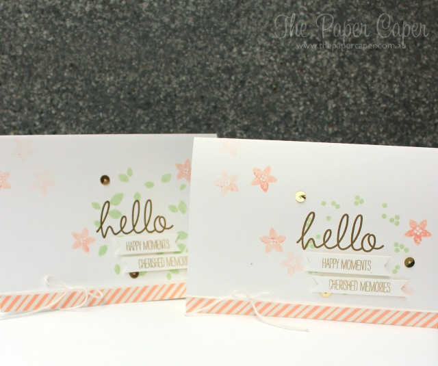Hello wedding bells for CASEing the Catty blog hop. Details @ www.thepapercaper.com.au. Stampin' Up! supplies: Wondrous Wreath, Sweet Sadie washi, Baker's Twine, Gold sequins...