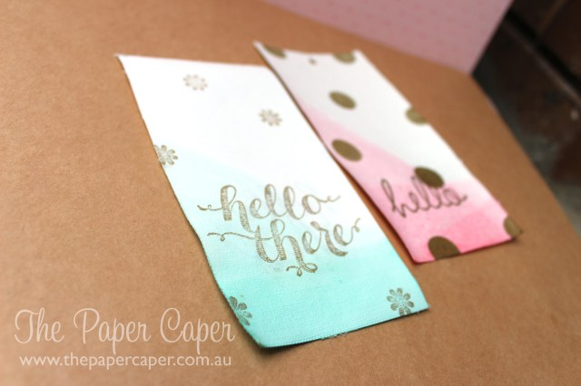 Dipped Canvas Creation tags. Details @ www.thepapercaper.com.au. Stampin' Up! supplies...