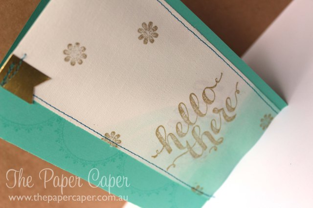 Dipped canvas tag card. Retiring list blog hop. Details @ www.thepapercaper.com.au. Stampin' Up! supplies...