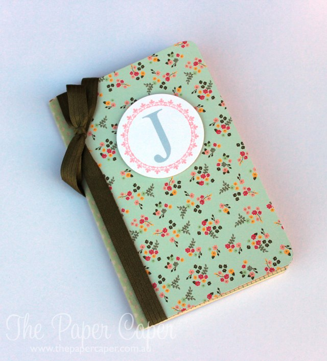 Decorated notebook for CASEing the Catty. Details @ www.thepapercaper.com.au