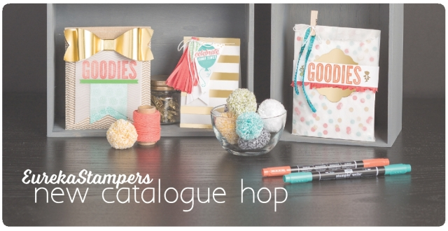 EurekaStampers new catalogue blog hop. Start at www.thepapercaper.com.au