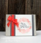 Timeless watercolour Love for EurekaStampers blog hop. Details @ www.thepapercaper.com.au. Stampin' Up! supplies: Timeless Love stamp set, Calypso Coral seam binding, Everyday Chic washi tape, Pink Pirouette, Blushing Bride and Calypso Coral inks...