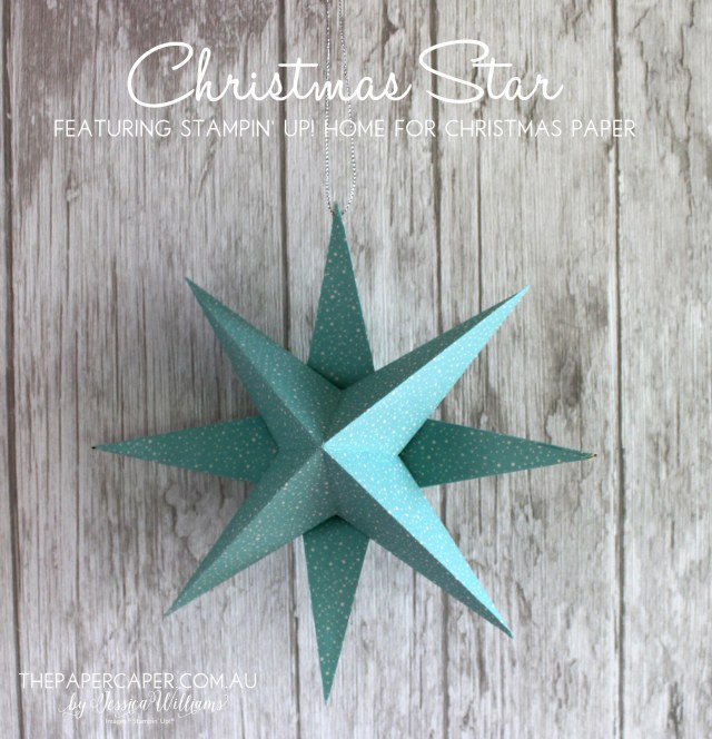 Christmas stars featuring Stampin' Up! Holiday papers I CASEing the Catty blog hops I www.thepapercaper.com.au by Jessica Williams