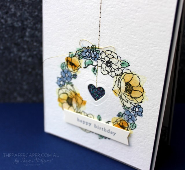 Timeless Love Wreath I #GDP004 I Global Design Project I Stampin' Up! I www.thepapercaper.com.au by Jessica Williams