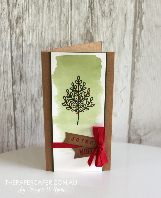 Joyeux Noel I Lighthearted Leaves I ESAD Holiday Catalogue Blog Hop I www.thepapercaper.com.au by Jessica Williams