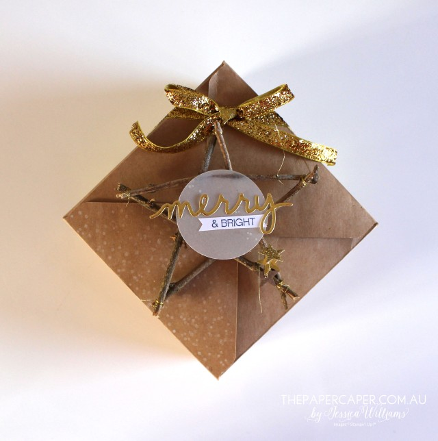 Rustic Christmas star tag I CASEing the Catty I Stampin' Up! I www.thepapercaper.com.au by Jessica Williams