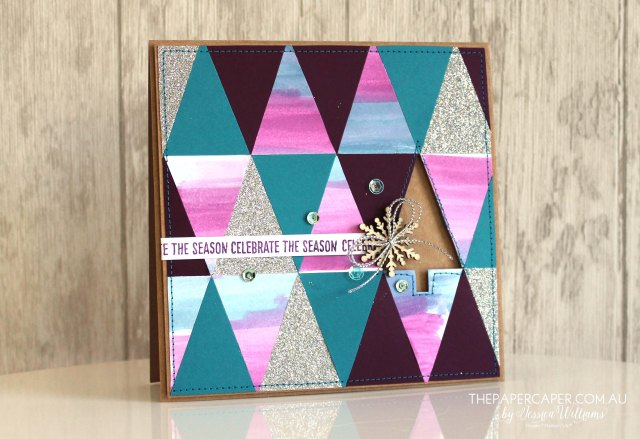 Stampin' Up! Tree Punch I Triangles/Geometric I Pennsationals Blog Hop Colour Challenge I www.thepapercaper.com.au by Jessica Williams