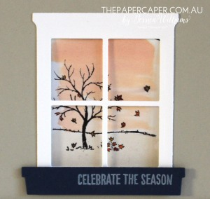 Seasonal calendar featuring Happy Scenes and Hearth & Home thinlits I The Stamp Review Crew blog hop I Stampin' Up!